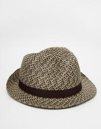 Соломенная шляпа‑федора Goorin Bobby Bones - Коричневый