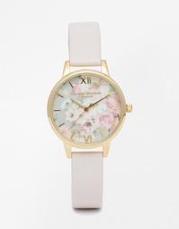 Розовые часы с цветочным дизайном Olivia Burton Flower Show - Розовый