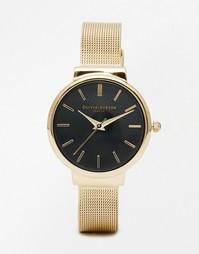 Черно-золотистые часы Olivia Burton Hackney - Золотой