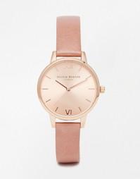 Часы цвета розового золота с розовым ремешком Olivia Burton - Розовый
