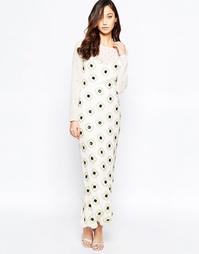 Платье макси с цветочной отделкой Virgo's Lounge Nadia - Белый