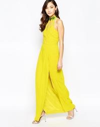 Платье макси с высокой горловиной и вырезами Virgo's Lounge Isabelli