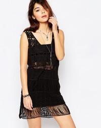 Ажурное платье без рукавов Brave Soul - Черный