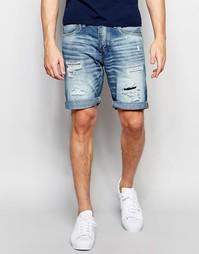Рваные джинсовые шорты Jack & Jones - Светло-голубой