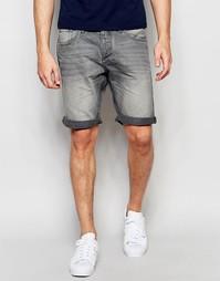 Серые джинсовые шорты Jack & Jones - Выбеленный серый