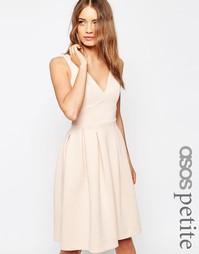 Платье миди ASOS PETITE - Телесный