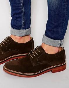 Замшевые туфли с перфорацией Base London Stanford - Коричневый