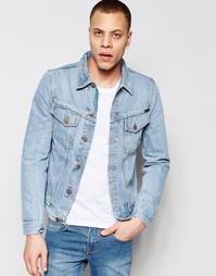 Джинсовая куртка Nudie Jeans Billy Trucker - Цвет strumming indigo