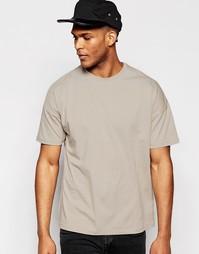 Свободная серая футболка ASOS - Серый
