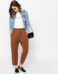 Зауженные брюки-галифе в стиле casual от ASOS - Коричневый