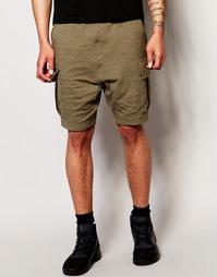 Стеганые шорты с заниженным шаговым швом ASOS - Хаки светлый
