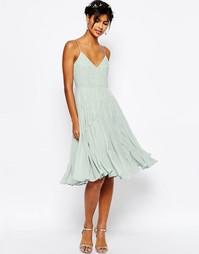 Декорированное платье миди на бретельках ASOS WEDDING - Нежная мята