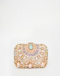 Клатч с отделкой камнями Vintage Styler - Мульти