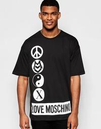Футболка с принтом Love Moschino - Черный