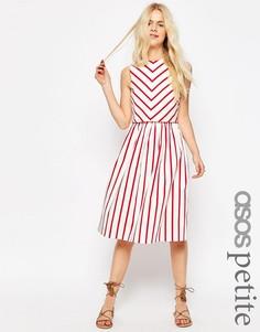 Двухслойное платье в полоску ASOS PETITE - Мульти