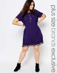 Цельнокройное платье с короткими рукавами и кисточками на кромке Alice