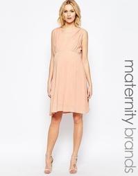 Тканое платье для кормления с короткими рукавами Mamalicious - Розовый Mama.Licious