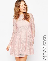 Кружевное платье бэби-долл ASOS PETITE - Blush