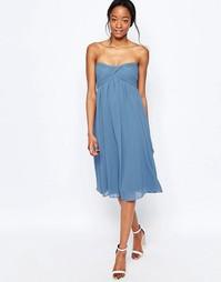 Платье-бандо миди Glamorous - Голубой джинсовый