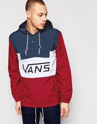 Красная куртка через голову с контрастным логотипом Vans V59AJ51