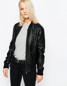 Университетская куртка из искусственной кожи Barney's Originals