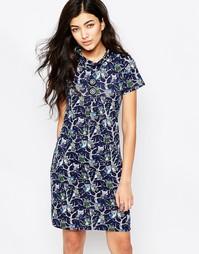 Платье-туника со свободным воротом Iska - Синий
