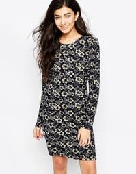 Платье-туника с длинными рукавами и цветочным принтом Iska