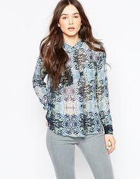 Рубашка с абстрактным принтом в стиле калейдоскопа Vila