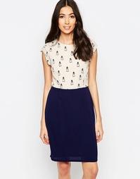 Платье с принтом сов Sugarhill Boutique Clara
