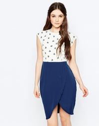 Платье с юбкой-тюльпаном и принтом сердечки Sugarhill Boutique