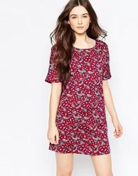 Цельнокройное платье с принтом пейсли Vila - Красный принт