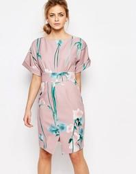 Платье с широкими рукавами и цветочным принтом Closet