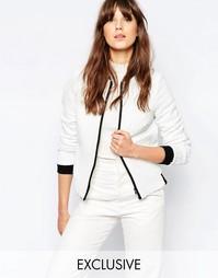 Белая фактурная куртка-пилот Helene Berman - 15 белый