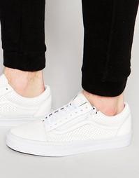 Белые кроссовки на молнии Vans Old Skool V18GGZO - Белый