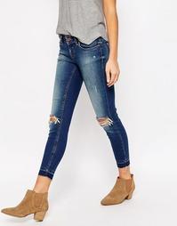 Рваные джинсы длиной 30 Only Coral - Темно-синий деним 30