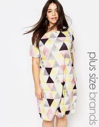 Цельнокройное платье с графическим принтом Pink Clove - Мульти