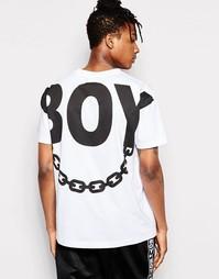 Футболка с принтом на спине Boy London - Белый