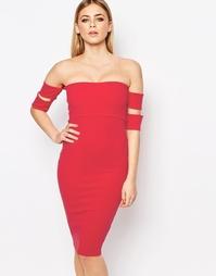 Облегающее платье‑бандо Boohoo - Красный