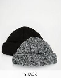 2 шапки-бини ASOS - Скидка 25% - Черный
