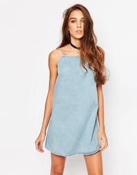 Короткое платье-сорочка Motel - Выбеленный синий