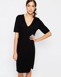 Платье с короткими рукавами Selected Lisa - Черный