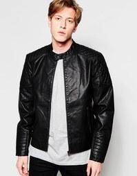 Куртка в кожаном стиле Jack & Jones - Черный