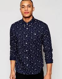 Рубашка с космическим принтом D-Struct - Темно-синий
