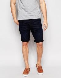 Темные свободные джинсовые шорты Jack & Jones - Темный синий