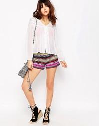 Трикотажные шорты радужной расцветки Brave Soul - Мульти