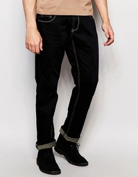 Эластичные джинсы слим на молнии Dickens and Browne - Темно-синий