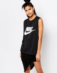 Майка с крупным логотипом-галочкой Nike