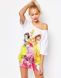 Пижамная футболка с диснеевскими принцессами и надписью ASOS - Мульти