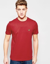 Красная футболка с логотипом Lyle & Scott - Ruby