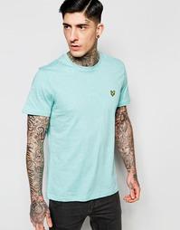 Меланжевая футболка мятного цвета с логотипом Lyle & Scott - Мятный